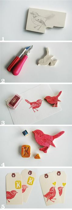 DIY handmade stamps