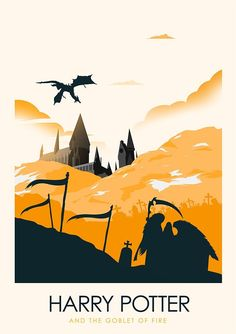 4.  Harry Potter Minimalist Poster Series - Created by Ciaran MonaghanPrints