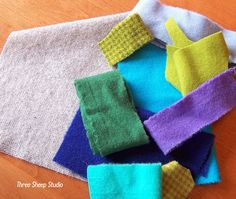 ThreeSheepStudio: How To Applique With Wool Series - Part 1 (With Free Pattern)