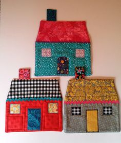 This listing is for one little cottage inspired mug rug. Choose either the gray and yellow, pink and turquoise or black and white (for the