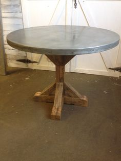 40 Round top Zinc Table by KiddEppsArtShop on Etsy, $1500.00
