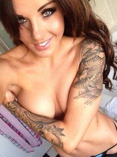 #Tattoo #sleeve #hot #tattoos #tattoo #ink #Tätowierung #tatuaje #tatouage