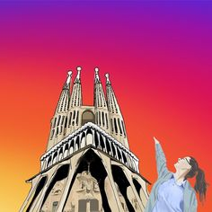 """""""I want something just like this"""" Sagrada Familia  #minimalmonster #architecture #design #modernarchitecture #art #digitalart #minimalist #minimal #minimalart #minimalism #doodle #sketch #drawing #painting #architecturesketch #architecturestudent #archilover  #next_top_architects #archdaily #architecture_hunter #arch_more #artcollective #sagradafamilia #antonigaudi #gaudi"""