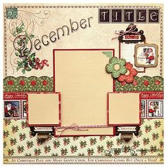 Try this December Place in Time layout with a printable project sheet #graphic45 #projectsheets #tutorials
