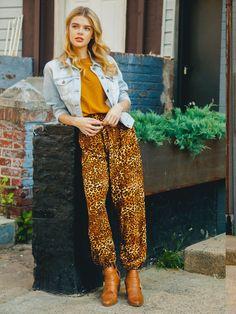 aa4f30a0e6353 Amur Leopard Brown Harem Pants Amur Leopard, Brown Leopard, Elephant Pants,  Save The
