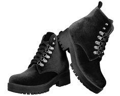 Vegan Velvet Harper Boots | T.U.K. Shoes