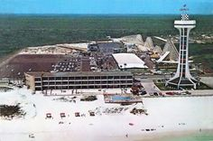 Miracle Strip Amusement Park, way before middle and back beach roads were built!!