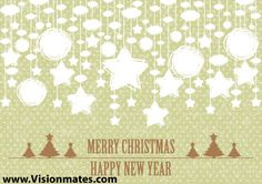 Merry Christmas and Happy New Year 2013 ornaments on yellow background as Christmas balls, Christmas stars, winter trees. Premium vector Merry Christmas and Happy New Year 2013 ornaments in Adobe Illustrator