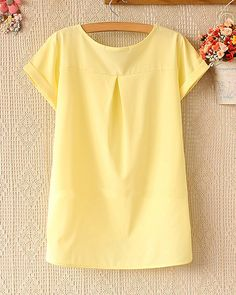 Spring and summer women's loose short-sleeved chiffon shirt