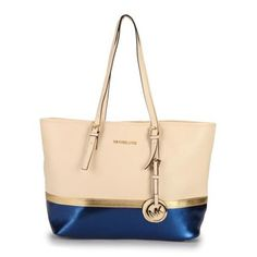 Welcome To Our Michael Kors Jet Set Travel Matching Medium Ivory Blue Totes Online Store