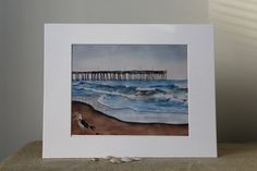 Watercolor Virginia Beach 8 x10 Print with by LandandSeaArtStudio