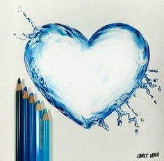 Water droplet heart