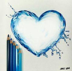 Water droplet heart