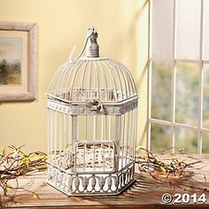 A pretty accent in any room, this Bird Cage is a versatile and decorative piece. Fill the Bird Cage with flowers, faux berries, seasonal picks or a planter and enjoy it all year long. A Bird Cage is also a lovely and decorative way to display a pillar candle.
