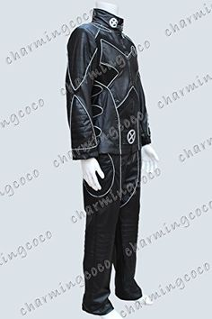 X-Men Wolverine Deluxe Cosplay Costume Leather Uniform White Line (Male S)- Click image twice for more info - See a larger selection of mens halloween costume at http://costumeriver.com/product-category/mens-halloween-costumes/ -  holiday costume , event costume , halloween costume, cosplay costume, classic costume, scary costume, super heroes costume, classic costume, clothing