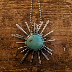 New piece. Necklace in silver with turquoise jewelry. More at www.jsartjewelry.com