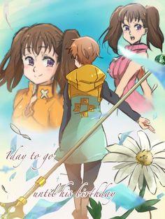 Poster A3 Nanatsu No Taizai Seven Deadly Sins Meliodas Gowther Elizabeth Boda 01
