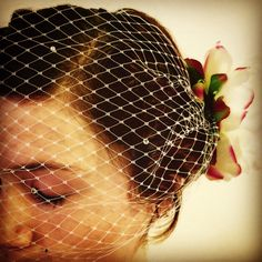 Birdcage veil by dahliasanddaydreams on Etsy https://www.etsy.com/listing/264142939/birdcage-veil