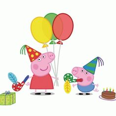 Kids Party Land: Peppa Pig Party Supplies and Ideas Pig Cupcakes, Pig Cookies, Peppa Pig Images, Peppa Pig Pictures, Peppa Pig Printables, Free Printables, Peppa Pig Cookie, George Pig Party, George Pig Cake