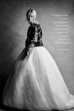 Vera Wang knows all about making a statement on your wedding day, and she shared her best advice for brides at davidsbridal.com.