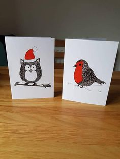 Check out this item in my Etsy shop https://www.etsy.com/uk/listing/559566687/christmas-owl-robin-a6-christmas-cards