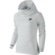NIKE Nike Tech Fleece Women'S Hoodie Summit White/Heather/Black 683798-121. #nike #cloth #