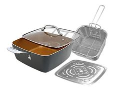Gotham Steel 11 XL Deep Dish Square Pan Set Brown *** You can get additional details at the image link.