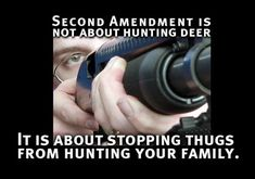 The 2nd Amendment is not about hunting deer...