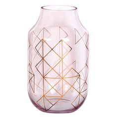 Pink Glass Vase with Geometric Print H 25 cm Blush Pink Bedroom, Pink Bedroom Decor, Pink Bedrooms, Bedroom Ideas, Manufactured Home Remodel, Decoration, Home Accessories, Bedroom Wallpaper, Wallpaper Ideas