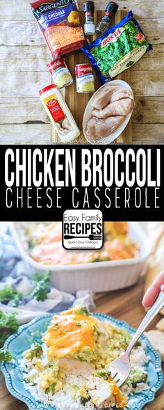 Chicken Broccoli Cheese Casserole · Easy Family Recipes ned than you want, at that point loosely cover it with a piece of foil so that it can continue to bake until done without getting to brown. Broccoli Cheese Casserole Easy, Chicken Broccoli Cheese, Broccoli Rice, Broccoli Recipes, Frozen Broccoli, Broccoli Florets, Easy Family Meals, Quick Family Recipes, Easy Dinners