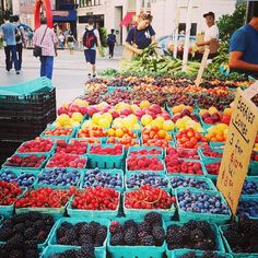 Union Square Greenmarket - more than 100 farmers, bakers, fishermen and other artisans hawk their goods - NYC