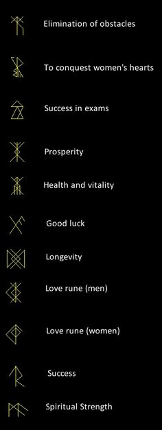 Now, I don't know who has constructed these runes, where they come from, or if they work, but you can experiment with them. They were fou...