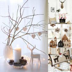 Vianoce v škandinávskom štýle Christmas Decorations, Table Decorations, Living Styles, Decorating, Furniture, Home Decor, Decoration, Homemade Home Decor, Life Styles