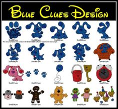Blues Clues Machine Embroidery Designs by EmbroideryNation on Etsy, $3.99