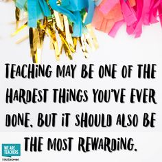 Teaching Should Also Be Rewarding