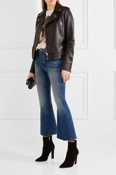FRAME - Rigid Re-release Le Cropped High-rise Slim-leg Jeans - Mid denim - 29
