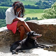 the reader and her dog by Bim Bom