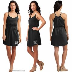 Monogrammed Juniors Strappy Dress