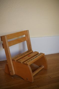 Vintage Wooden Children's Chair/step Up Stool