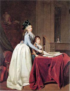 TITLE ] 이 그림은 교과서에서 발췌한 그림으로 작자를 알 수 없으나 그림 속 여인이 입고 있는 것은 인류의 사상이   가장 비약적으로 진보했던 시기를 함께했던 대표적인 의복인 '로브 아 랑글레즈'이다. 개인적으로 프랑스 혁명은 인류역사의  제 2막을 연 사건이라고 생각한다. 로브 아 랑글레즈는 프랑스 혁명기 이전부터 입혀져 온 의복으로 사치로 대변되는 프랑스  귀족들의 의복인 '로브 아 라 프랑세즈'와 대척점에 있다. 영국에서 주로 착용되었으며 프랑스에서는 주로 중산층의 여성들이  입던 이 의복이 혁명기 이후 가장 대중적으로 착용되며 비로소, 귀족은 자신들을 상징했던 '사치'를 벗고 '검소'를 입기 시작했다.  동시에 자신들을 둘러싸고 있던 가장 큰 상징을 벗어던지고 나서야 비로소 말이 아닌 행동으로 시민의 권위가 다시 서기  시작한 것이다. 역사 속 그 어떤 의복보다, 그림 속 그 어떤 여인 보다 이 그림 속 여인의 미소가 아름다워 보이는 이유가  바로 그것이다.