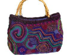 Arte vestible de FreeForm Crochet bolso bolso por rensfibreart