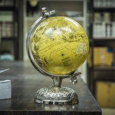 Colorful Coromandel World Globe  #woodenglobe #woodglobe #handpaintedglobe #miniglobe #floralglobe