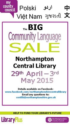 Sale of Community Language books at Northampton Central Library.