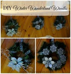 DIY Winter Wonderland Wreaths | Made for Less Than $7.50 Each With Christmas Clearance!