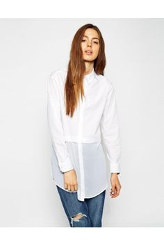 Discover the range of women's shirts and blouses with ASOS. Shop the latest tops, blouses and shirts with ASOS. Chiffon, Latest Tops, Models, Modest Dresses, Long A Line, Street Chic, Shirt Blouses, Printed Shirts, Fashion Online
