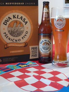 Dva klasa -  the first Croatian wheat beer TWO SPIKES Wheat beer  Colour: thick purple red  Taste: specific scent and taste of wheat malt Extract: 13 percent Alcohol: 4.6 percent Serve chilled with abundant creamy head