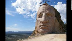 The 87-foot face isn't a true replica of Crazy Horse -- there is no consensus about what he looked like --  but an artistic expression of him, its creators say.