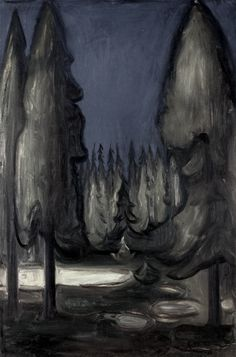 Dark Spruce Forest by Edvard Munch - 1899