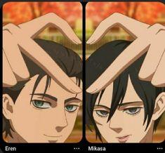 Eren And Mikasa, Armin, Eremika, Attack On Titan Fanart, Pick Up Lines, Titans Anime, Best Couple, Kawaii, Fan Art