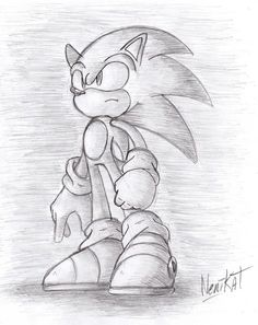 by nenikat on deviantart. Disney Drawings Sketches, Marvel Drawings, Cartoon Sketches, Pencil Art Drawings, Cartoon Art, Easy Drawings, Drawing Sketches, Hedgehog Art, Sonic The Hedgehog